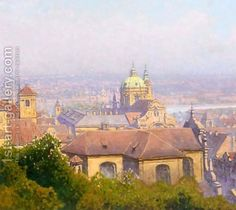 View Of Prague by Heinrich Tomec