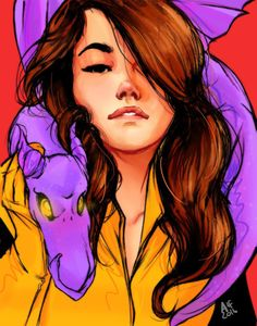 "amosthefanboy: "" My love for Batman is immeasurable… But i only have one comic book bae ❤️ It's been a while since i made a Kitty Pryde fanart piece. I love her so much everytime i draw her it has to be special :) The face is based on Liza Soberano,..."