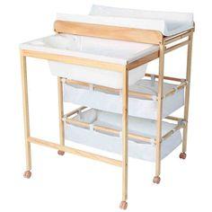Infantastic Baby Bath and Changing Table Unit Station Nursery Furniture - ca. Bath Table, Diy Table, Nursery Furniture, Kids Furniture, Baby Bedroom, Girls Bedroom, Baby Changer, Diy Changing Table, Baby Baden