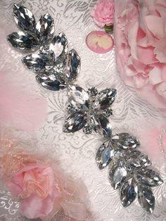 XR118 Zeda Silver Crystal Rhinestone Applique 9.75    XR118-slcr. $15.99, via Etsy.