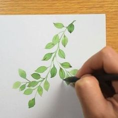 Watercolor painting process - winterberry. I forgot to film the process of painting the red berries. My Facebook page and YouTube channel have the longer video. #process #wip #watercolor #leaves #botanical #greenery #painting #art
