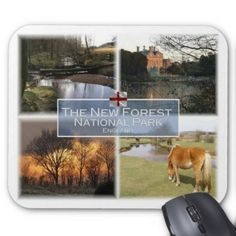 GB United Kingdom - England - The New Forest N.P. Mouse Pad - #customizable create your own personalize diy