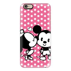 iPhone 6 Plus/6/5/5s/5c Case - Disney Mickey Mouse and Minnie Kiss... ($40) ❤ liked on Polyvore featuring accessories, tech accessories, phone cases, phones, iphone case, polka dot iphone case, slim iphone case, iphone cover case and apple iphone cases