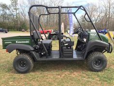 New 2016 Kawasaki Mule™ 4010 Trans4x4® ATVs For Sale in Ohio. Call/text Allen Henning 740-296-3495 to secure yours today, to learn more about our high approval financing, and to get straightforward candid service.  The Mule™ 4010 TRANS4X4® side X side is a versatile mid-size two to four-passenger workhorse that's capable of both putting in a hard day of work as well as touring around the property. Flexible convertible design lets you easily change from a four-seat crew mover to a two-seat…