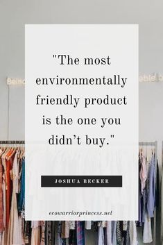 Undertaking the Plastic Free July challenge or just keen to live a zero waste or minimal waste lifestyle? These quotes about plastic free, low waste and zero waste living are guaranteed to inspire you. Consumerism Quotes, Anti Consumerism, Hand Quotes, Words Quotes, Second Hand Shop, Fashion Quotes, Fashion Ideas, Zero Waste, Quotes To Live By