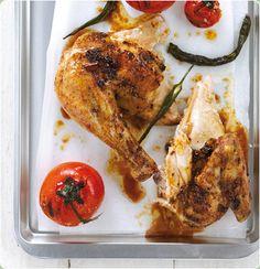 Eight-spice spatchcock chicken