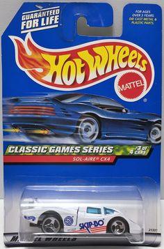 (TAS034374) - 1998 Mattel Hot Wheels Die-Cast Classic Games Series SOL-AIRE CX4