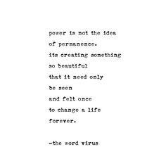 """'Power' - much love ❤️❤️ poems available on etsy linked in my bio."""