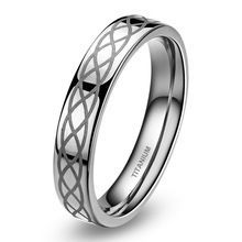 High Polished Finish 4 mm Celtic Knot Titanium Ring Men Wedding Band Women Unisex Personality Simple Rings Comfort Fit Promotion //Price: $US $3.84 & Up to 18% Cashback on Orders. //     #homedecor