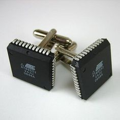 Atmel computer chips made into Cuff Links