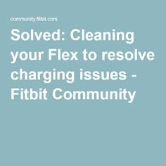 how to clean your fitbit flex