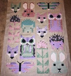Fancy forest quilt