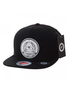 1ed5d017b73 Snapback Hat Illuminati Patch Hip Hop Baseball Cap AL2344 - Black -  C612HS7EX6V
