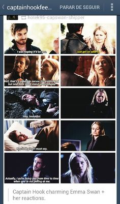 Once upon a time. Hook and Emma