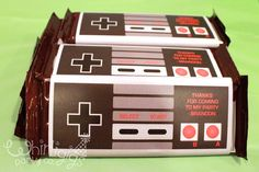 Nintendo Controller Candy Bar Wrappers - Inspired by Classic Nintendo Controller