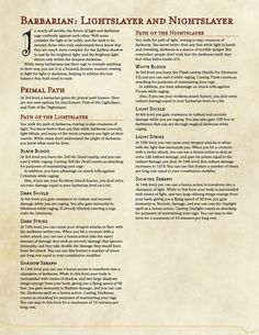 Dungeons And Dragons Rules, Dungeons And Dragons Homebrew, Barbarian Dnd, Ranger Dnd, Dnd Races, Dnd Classes, Dnd 5e Homebrew, Dnd Monsters, Guild Wars