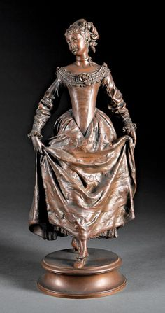 Continental Bronze Figure of Young Maiden, after the original by Adrien Etienne Gaudez, inscribed signature on self-b. on Mar 2018 Baroque Decor, Les Oeuvres, Murals, Bronze, The Incredibles, Statue, Art, Art Sculptures, Wall Murals