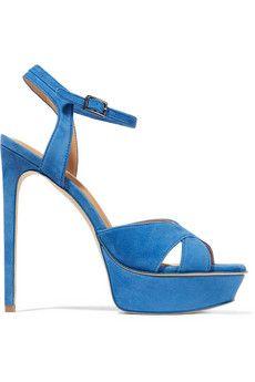 Halston Heritage Naomi suede platform sandals  | THE OUTNET