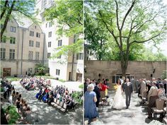 Tree Suites Courtyard Garden Wedding Ceremony At Indiana University In Bloomington By Tall