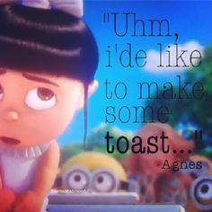 """Best line ever... instead of saying """"i'de like to make A toast"""" she says """"i'de like to make SOME toast! Awwww"""