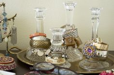 Candlesticks as bracelet storage, YES.                              …