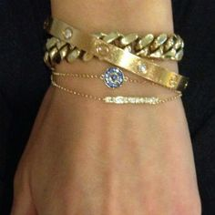ruby stella, evil eye bracelet, bar bracelet, carrier bracelet, cuban link bracelet, diamonds, 14k gold