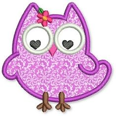Olivia Owl Applique 3 Sizes | Featured Products | Machine Embroidery Designs | SWAKembroidery.com Lynnie Pinnie