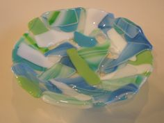 using scrap glass to make a bowl free tutorial