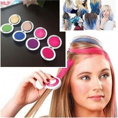 Pro DIY Temporary Hair Chalk Special Color Dye Pastels Salon Kit Non-toxic 4 Colors