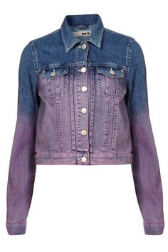 dip dyed denim jacket