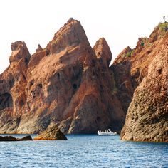 [SCANDOLA NATURE RESERVE, CORSICA] —Okay, who's been to the Scandola…charter a skipper and a speedboat on your own from nearly every port from L'Île-Rousse, Calvi, Girolata