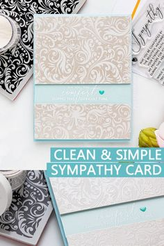 Easy to make Sympathy Card example & Ideas what to write on the inside. Handmade card by Yana Smakula for Simon Says Stamp Sympathy Card Messages, Card Sentiments, Card Patterns, Scrapbook Cards, Scrapbooking, Cards For Friends, Simon Says Stamp, Hobbies And Crafts, Making Ideas