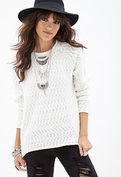 Textured Fisherman Sweater | Forever 21 - 2000118827