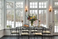 Would love love love a dining room like this....55 Awesome Sunroom Design Ideas | DigsDigs