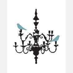 Birds on Chandelier  by Jaime Derringer