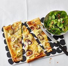 Rezept: Blätterteig-Tarte mit Artischocken und Brie