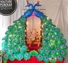 Ganpati decoration ideas for home | ganpati decoration ideas for home waterfall | Ganpati decoration flower making | Ganpati decoration 2020 | Ganpati decoration lighting | Ganpati decoration ideas | Ganpati decoration ideas for home simple | Ganpati decoration easy | Ganpati decoration Thermacol temple | Ganpati decoration flower making | Ganpati deva touch mala hava | Ganpati decoration | eco friendly ganpati decoration | eco friendly Ganesha making | eco friendly house | eco friendly… Decoration For Ganpati, Eco Friendly Ganpati Decoration, Gauri Decoration, Ganapati Decoration, Diy Hacks, Life Hacks Diy, Ikea Hacks, Christmas Window Decorations, Homemade Christmas Decorations