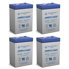 6V 4.5AH SLA Battery replaces cp0660 gp645 lcr6v4p hk-3fm4.5 wp4-6 - 4 Pack