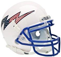 Air Force Falcons Schutt XP Mini Helmet - Flag Bolt https://www.fanprint.com/licenses/air-force-falcons?ref=5750