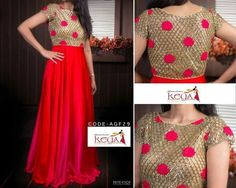 Sewing projects for women tops simple 36 ideas for 2019 Churidar Designs, Kurti Neck Designs, Blouse Designs, Dress Designs, Long Gown Dress, Long Frock, Frock Patterns, Indian Gowns Dresses, Prom Dresses