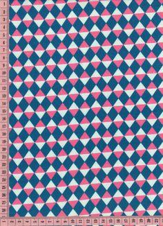 tissu scaramouche bleu canard- bois de rose glacier