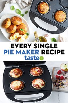 Did you know your Kmart pie maker can do more than just pies! We've gathered all our recipes, from muffins to pancakes, that can easily be adapted to work in a pie maker so you're never short of ideas. Aussie Food, Australian Food, Mini Pie Recipes, Baking Recipes, Drink Recipes, Savory Snacks, Savoury Dishes, Sunbeam Pie Maker, Breville Pie Maker