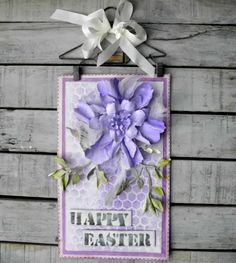 "Use your Sizzix and the Tim Holtz bigz die to create this ""Happy Easter"" wall hanger. (via sizzixukblog.blogspot.com)"