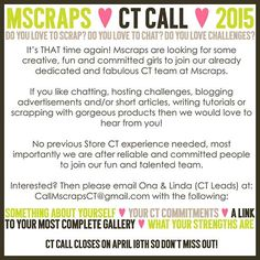 Mscraps CT Call - April 2015 - MScraps Forum