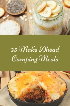 Camping dessert recipes are also enjoyable and easy for kids to make, and the entire family takes pleasure in eating them. Have a preferred family camping recipe that the kids like to cook. Camping Food Make Ahead, Camping Lunches, Camping Dishes, Camping Breakfast, Make Ahead Meals, Family Camping, Backpacking Meals, Camping Dinner Ideas, Best Camping Meals
