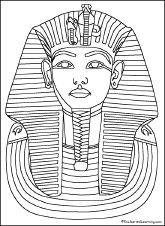 Tut coloring page Enchanted Learning