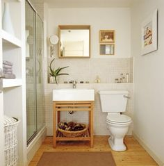 30 Most Popular Small Bathroom Remodel On A Budget. tags: small bathroom decorating ideas, simple bathroom designs, small bathroom ideas photo gallery, bathroom designs for home. Small Space Interior Design, Simple Bathroom Designs, Trendy Bathroom, Space Saving Bathroom, Diy Bathroom Decor, Small Bathroom Decor, Space Saving, Bathroom Design, Bathroom Decor