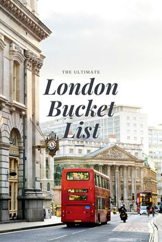 London Bucket List (WORLD OF WANDERLUST)