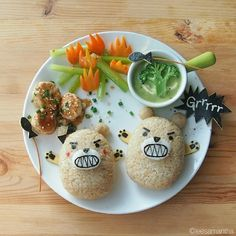 Angry Bears/Food art by Samantha Lee