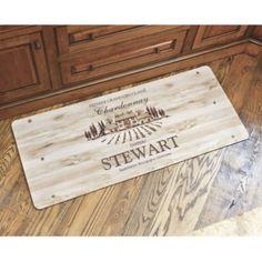 Personalized Wine Crate Comfort Mat. Oh how I love Ballard Designs!